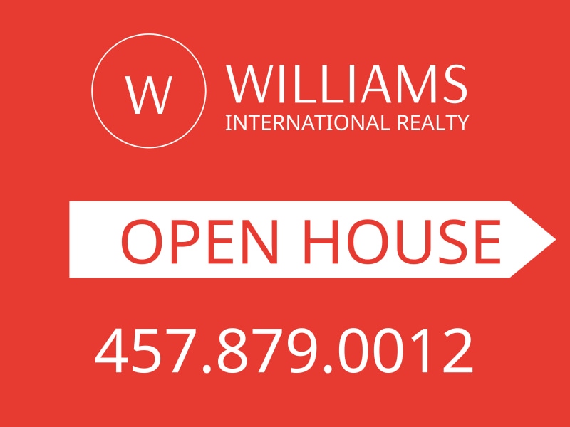 Williams Realty Open House Yard Sign Template Preview 3