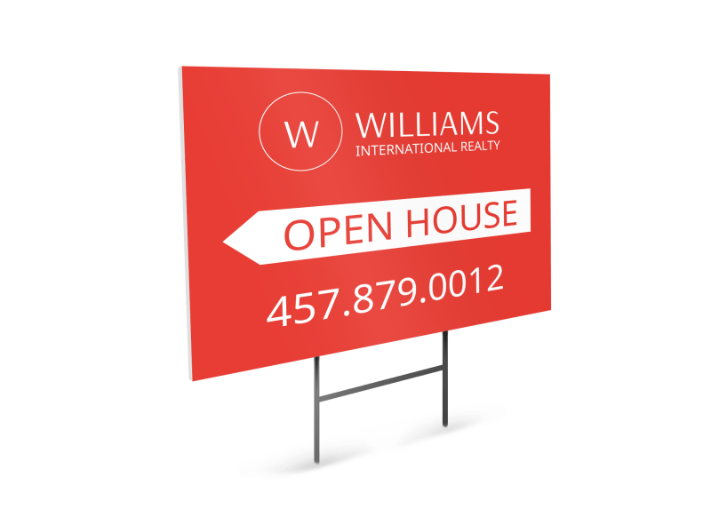 Williams Realty Open House Yard Sign Template Preview 1
