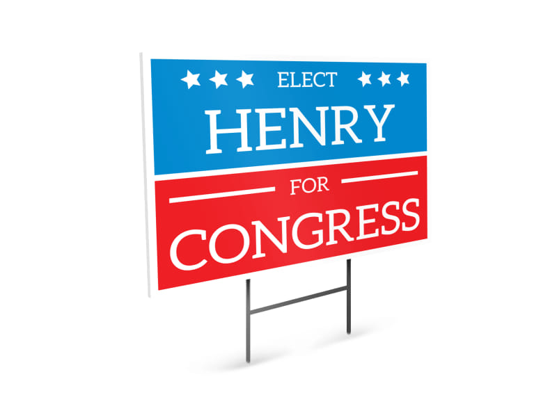 Henry Election Yard Sign Template