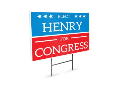 Henry Election Yard Sign Template preview