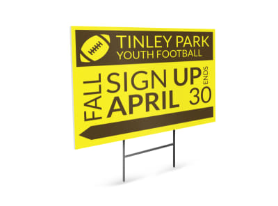 Tinley Youth Football Yard Sign Template preview