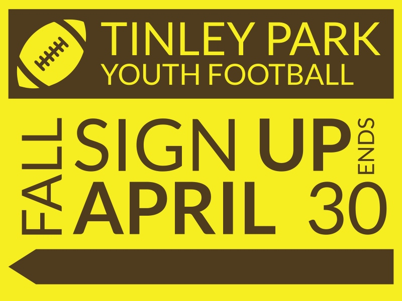 Tinley Youth Football Yard Sign Template Preview 2