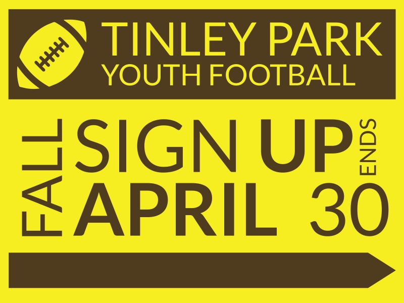 Tinley Youth Football Yard Sign Template Preview 3