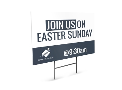 Easter Sunday Yard Sign Template preview
