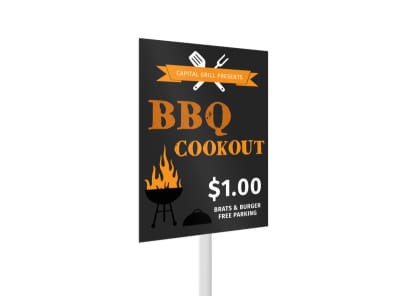 BBQ Cookout Yard Sign Template 2 preview