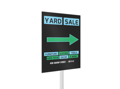 Yard Sale Yard Sign Template 2 preview