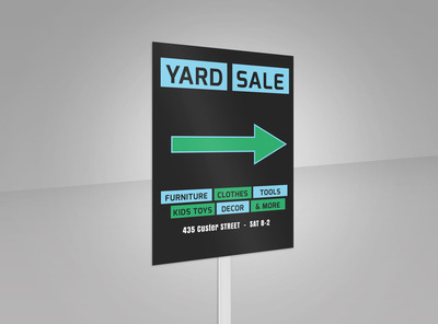 Yard Sale Yard Sign Template 2