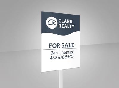 Clark Realty For Sale Yard Sign Template 2