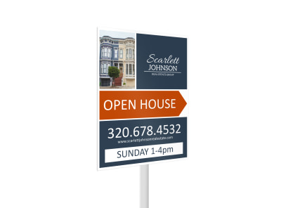 Scarlett Johnson Open House Yard Sign Template 2 preview