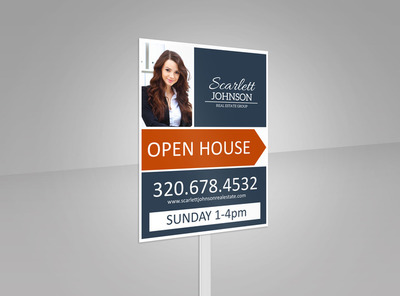 Scarlett Johnson Open House Yard Sign Template 2
