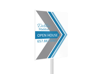 Debbie Maddox Open House Yard Sign Template 2 preview