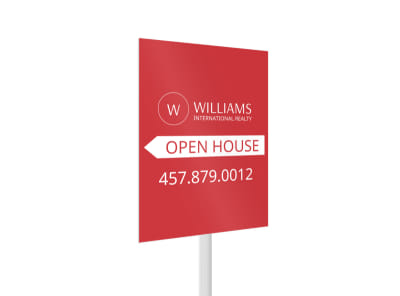Williams Realty Open House Yard Sign Template 2 preview