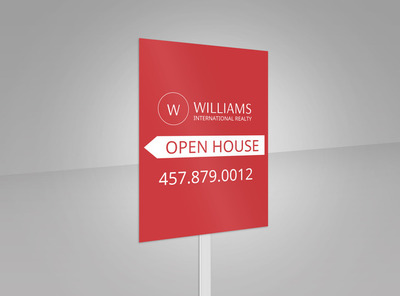 Williams Realty Open House Yard Sign Template 2