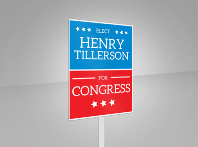 Henry Election Yard Sign Template 2