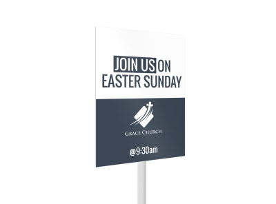 Easter Sunday Yard Sign Template 2 preview