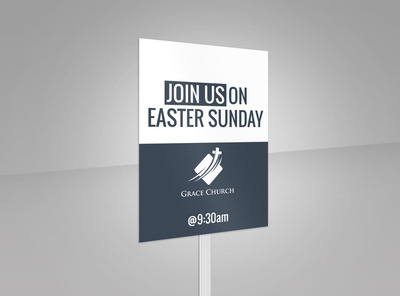 Easter Sunday Yard Sign Template 2