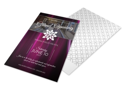 Springfield Hotel Grand Opening Flyer Template preview