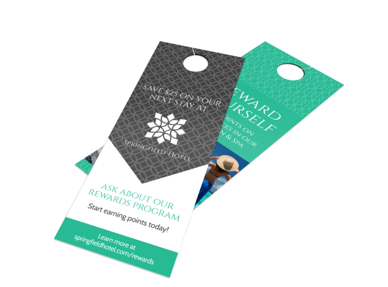 Springfield Hotel Rewards Door Hanger Template MyCreativeShop - Hotel door hanger template