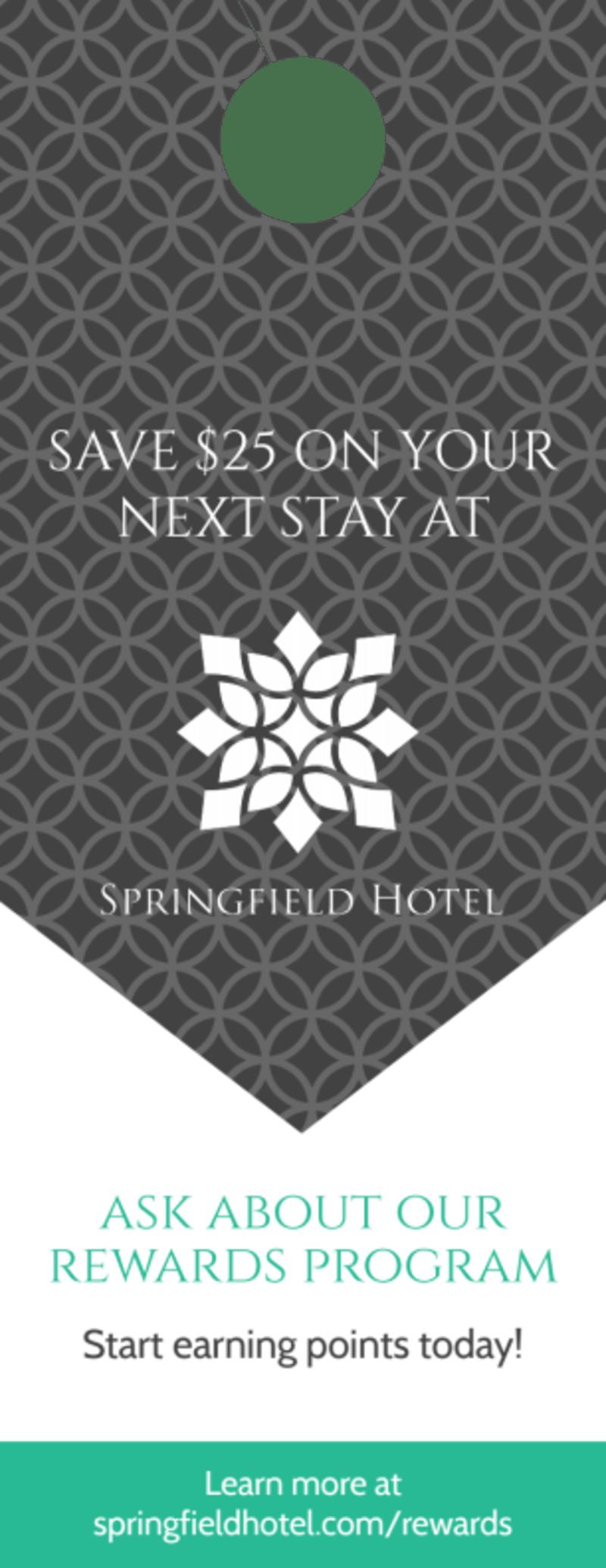 Springfield Hotel Rewards Door Hanger Template Preview 2