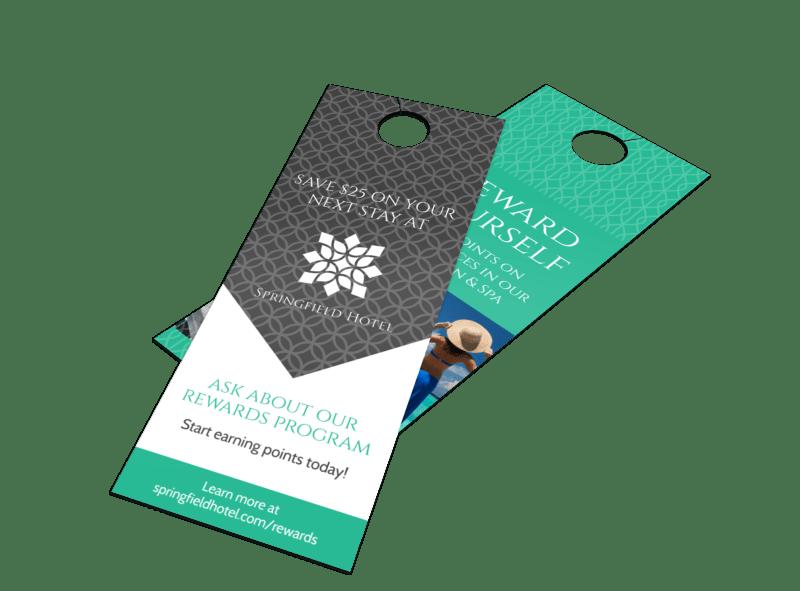 Springfield Hotel Rewards Door Hanger Template Preview 1