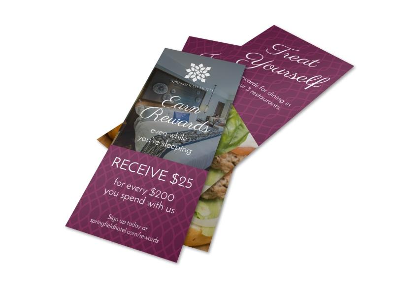 Hotel Earn Rewards Flyer Template
