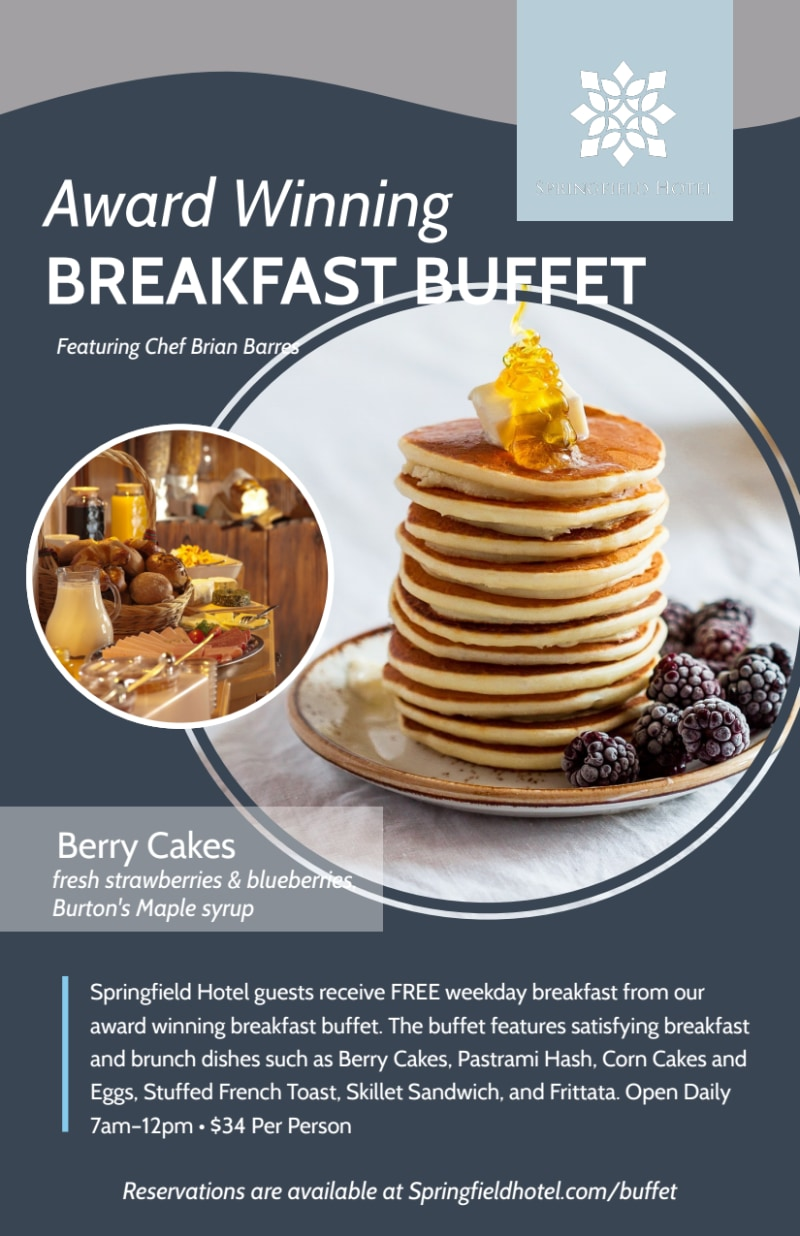Hotel Breakfast Buffet Flyer Template Preview 2