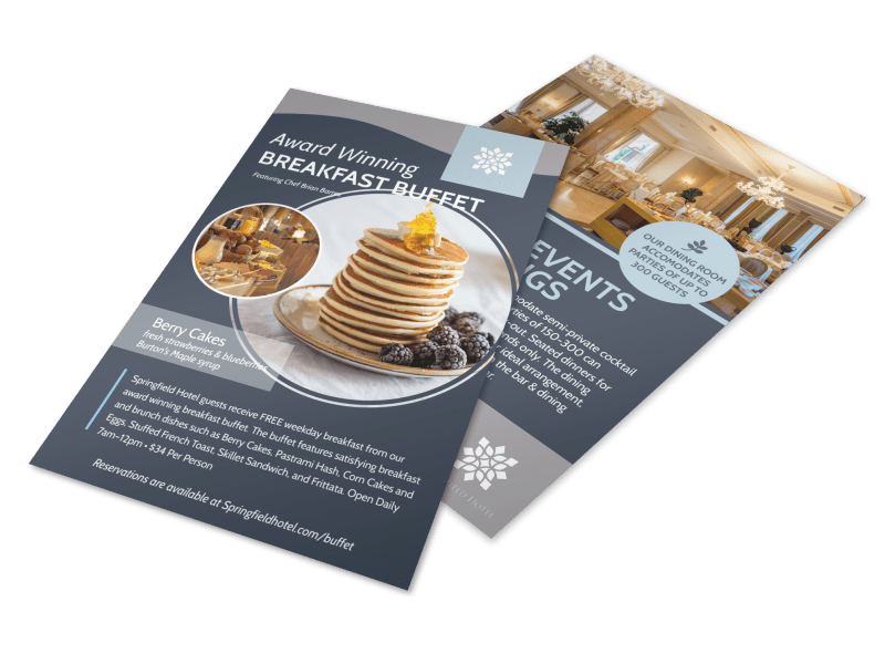 Hotel Breakfast Buffet Flyer Template Preview 1