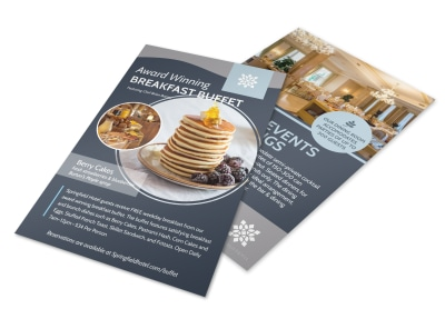 Hotel Breakfast Buffet Flyer Template preview