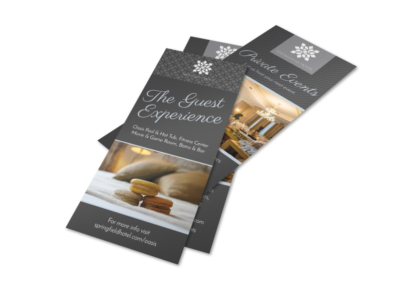 Hotel Guest Experience Flyer Template