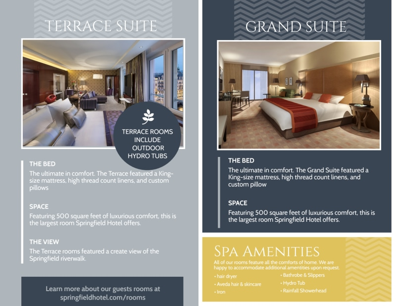 Hotel Guest Experience Bi-Fold Brochure Template Preview 3