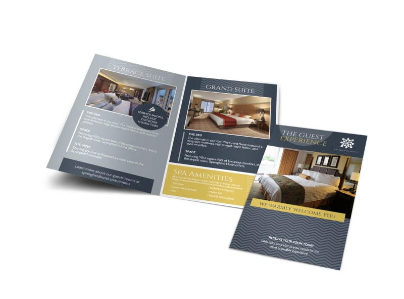 Hotel Guest Experience Bi-Fold Brochure Template Preview 4