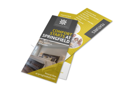 Comfort Starts At Springfield Hotel Flyer Template