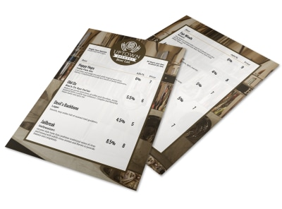 Uptown Beer List Flyer Template