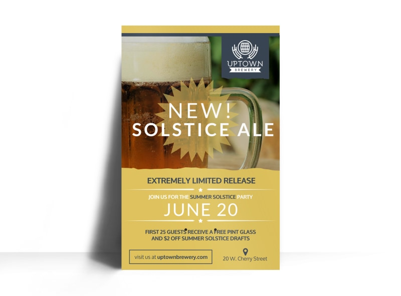 Brewery New Solstice Ale Poster Template