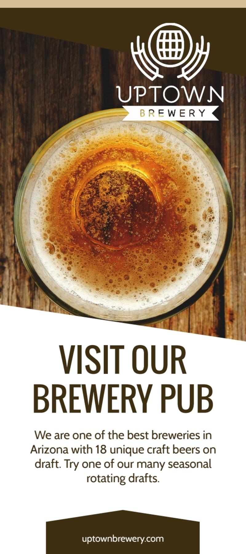 Brew Pub Menu Flyer Template Preview 2