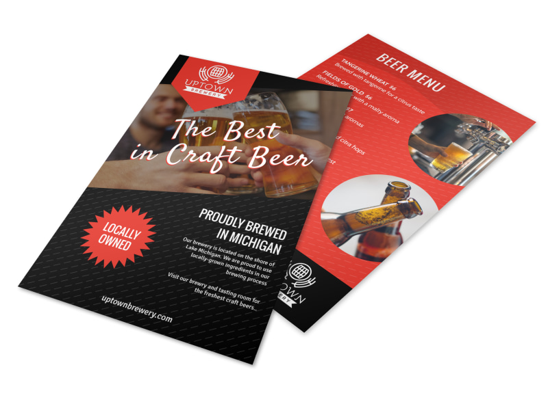 Craft Beer Menu Flyer Template
