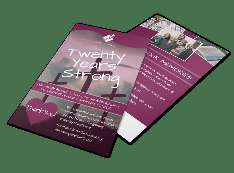 Twenty Years Strong Church Anniversary Flyer