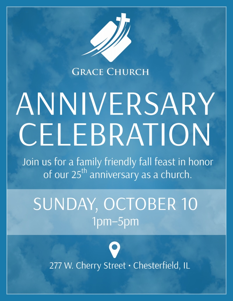Church Anniversary Celebration Flyer Template Preview 2