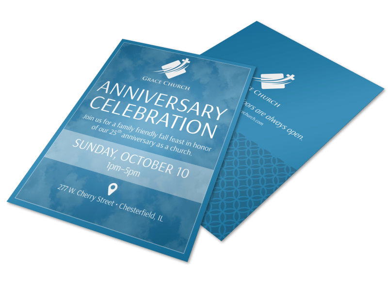 Church Anniversary Celebration Flyer Template Preview 1