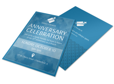 Church Anniversary Celebration Flyer Template preview