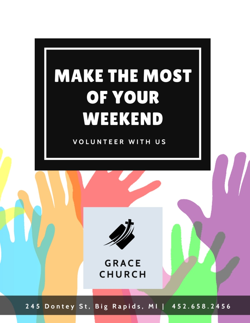 Church Weekend Volunteer Opportunities Flyer Template Preview 2