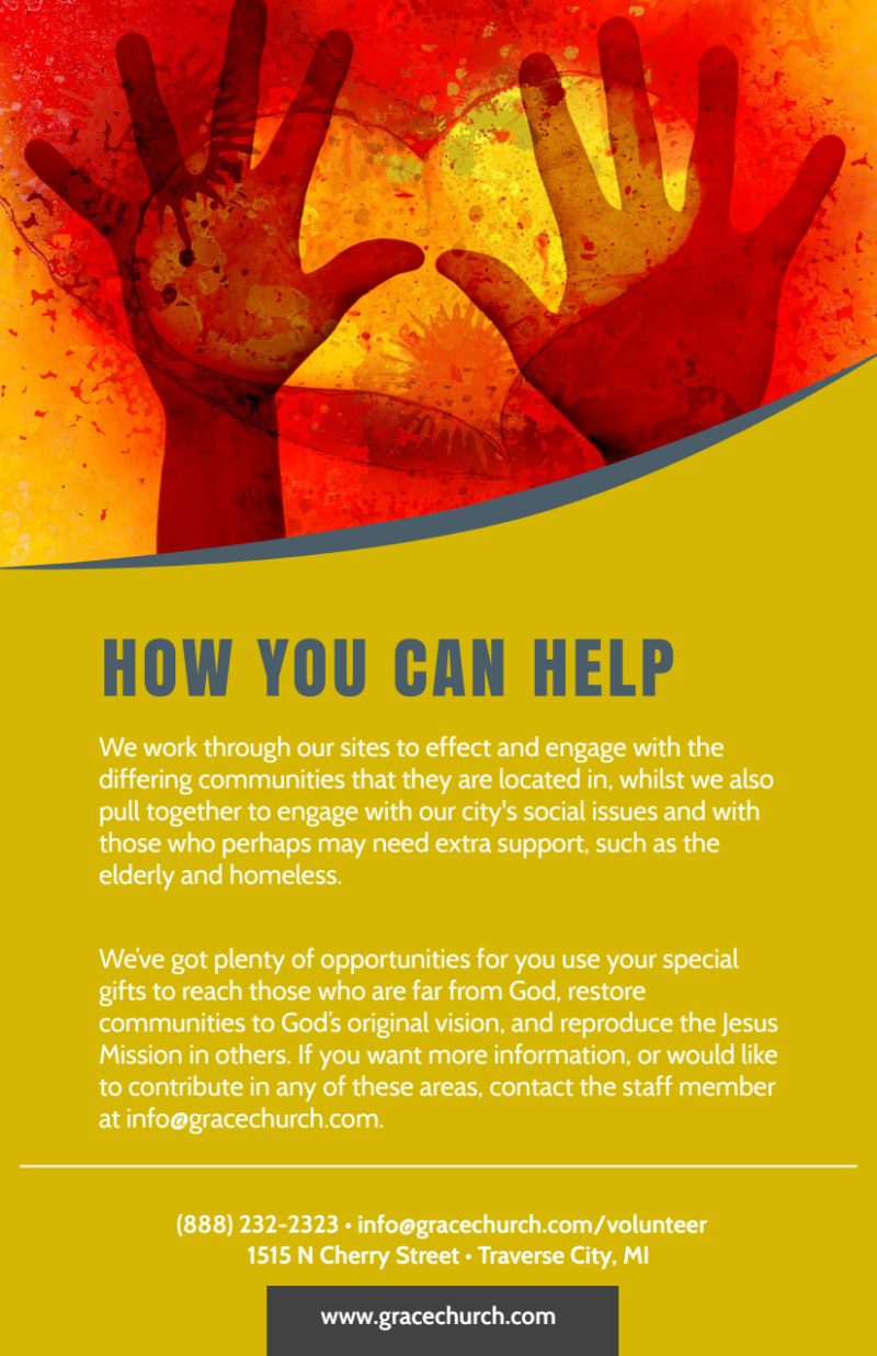 Be A Volunteer Church Flyer Template Preview 3