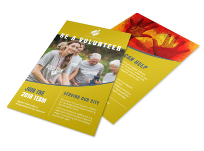 Be A Volunteer Church Flyer Template preview