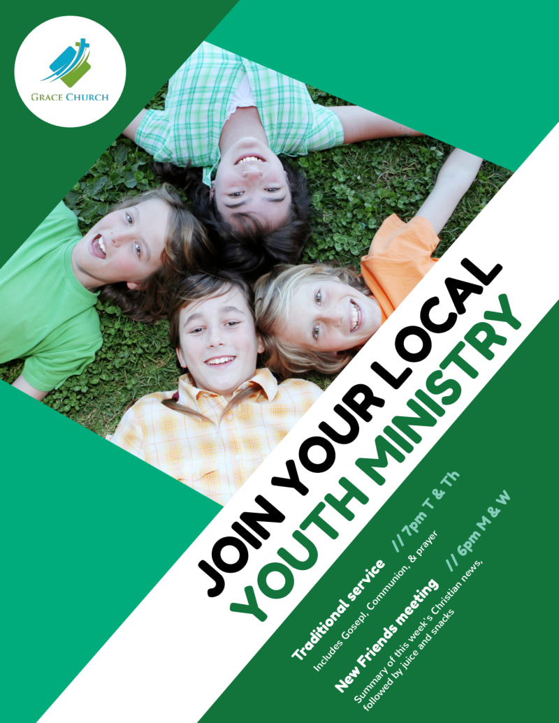 Church Youth Ministry Flyer Template Preview 2