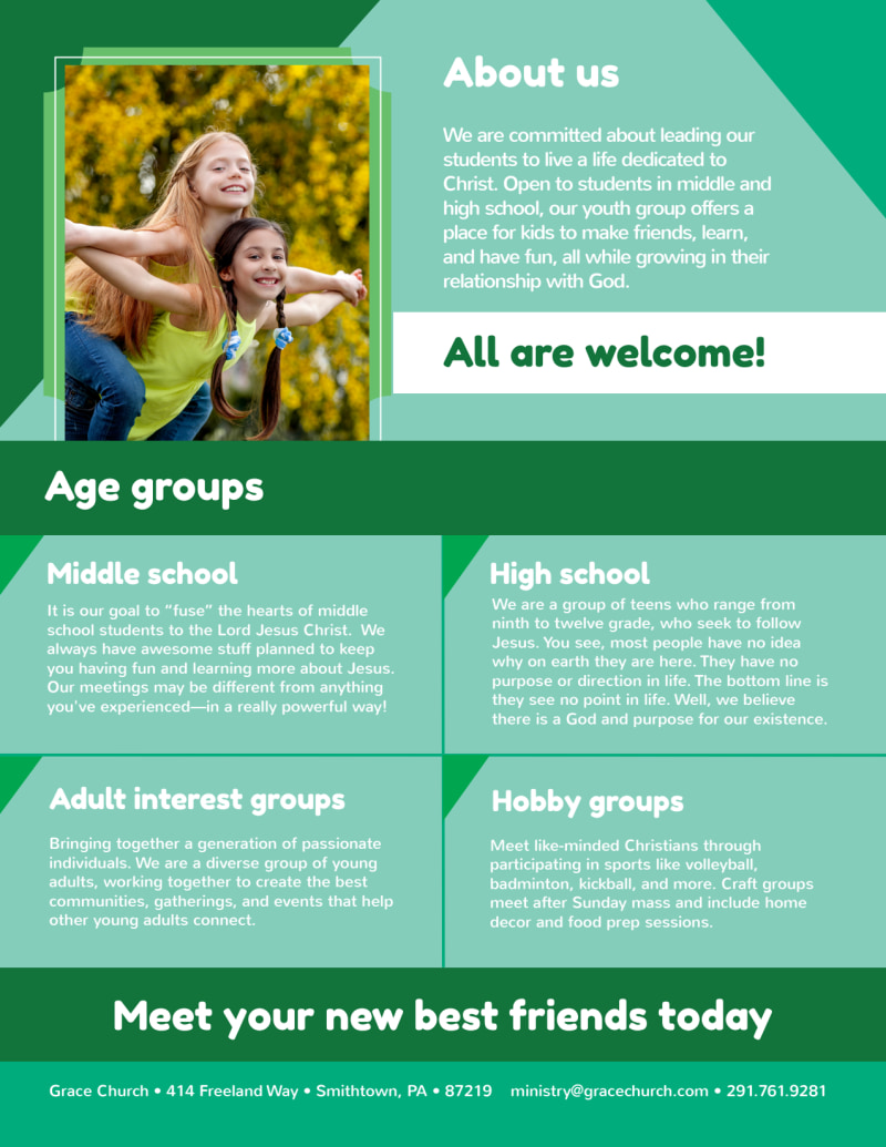 Church Youth Ministry Flyer Template Preview 3