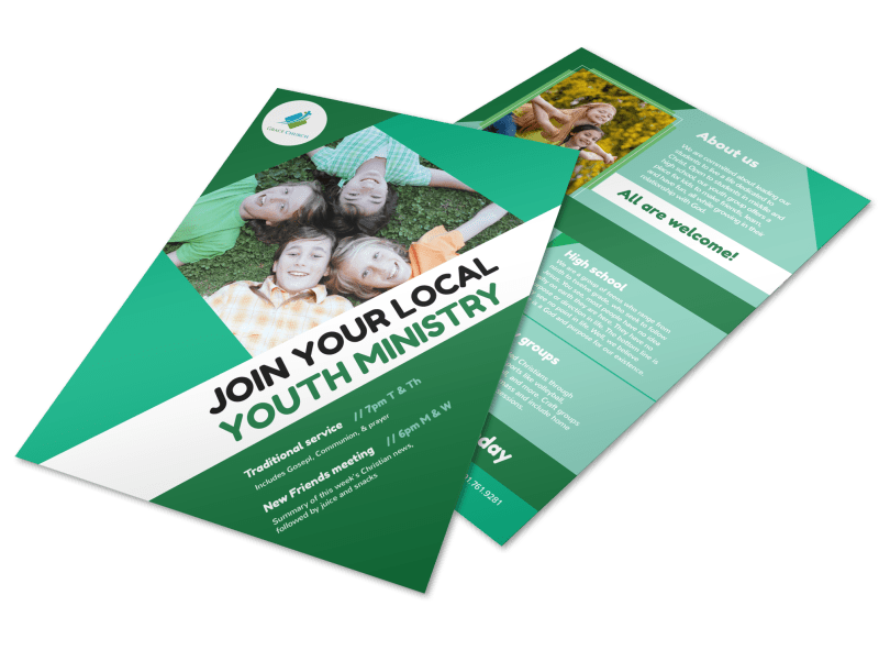 Church Youth Ministry Flyer Template Preview 1