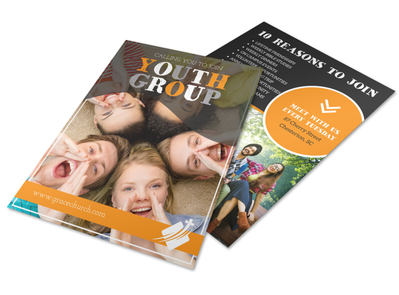 Church Join Youth Group Flyer Template