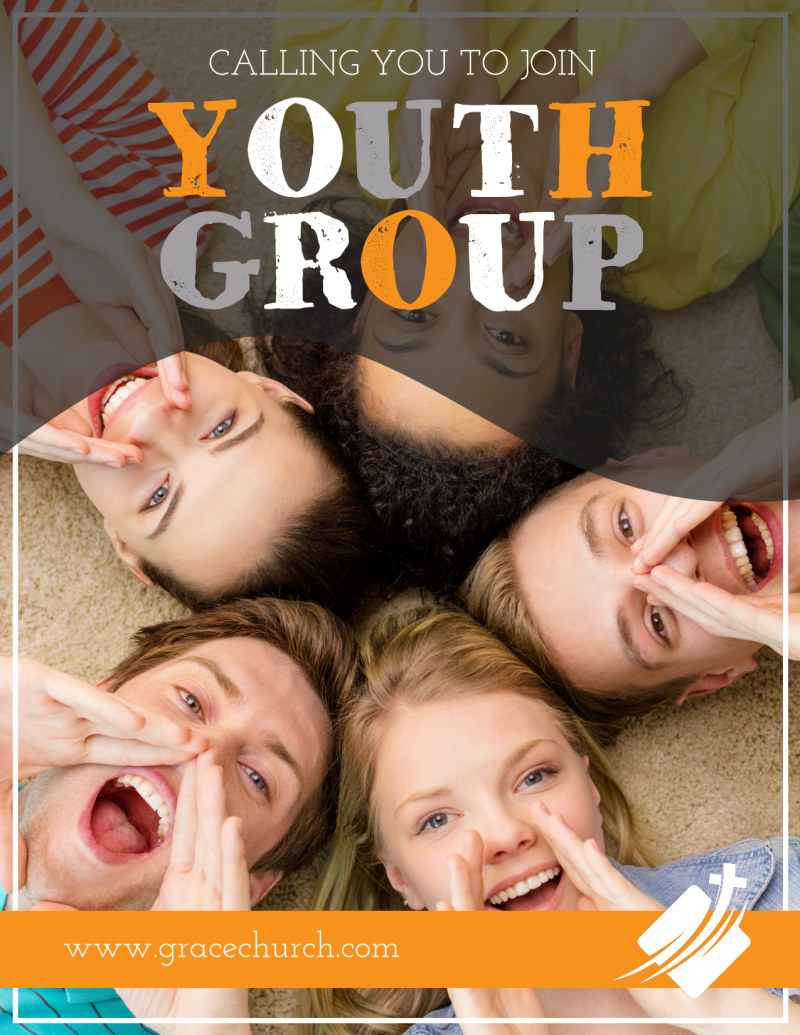Church Join Youth Group Flyer Template Preview 2