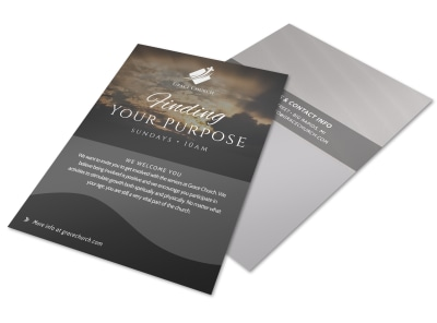 Finding Your Purpose Church Invitation Flyer Template