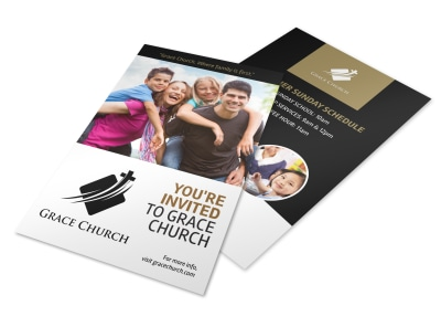 You Are Invited Church Flyer Template preview
